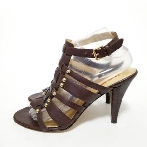 Michael Kors size 8 leather caged heels